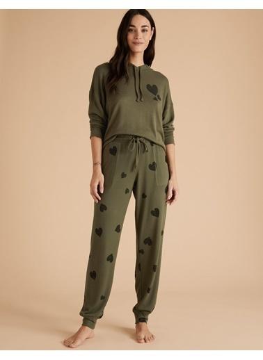 Marks & Spencer Kalp Desenli Jogger Pijama Altı Yeşil